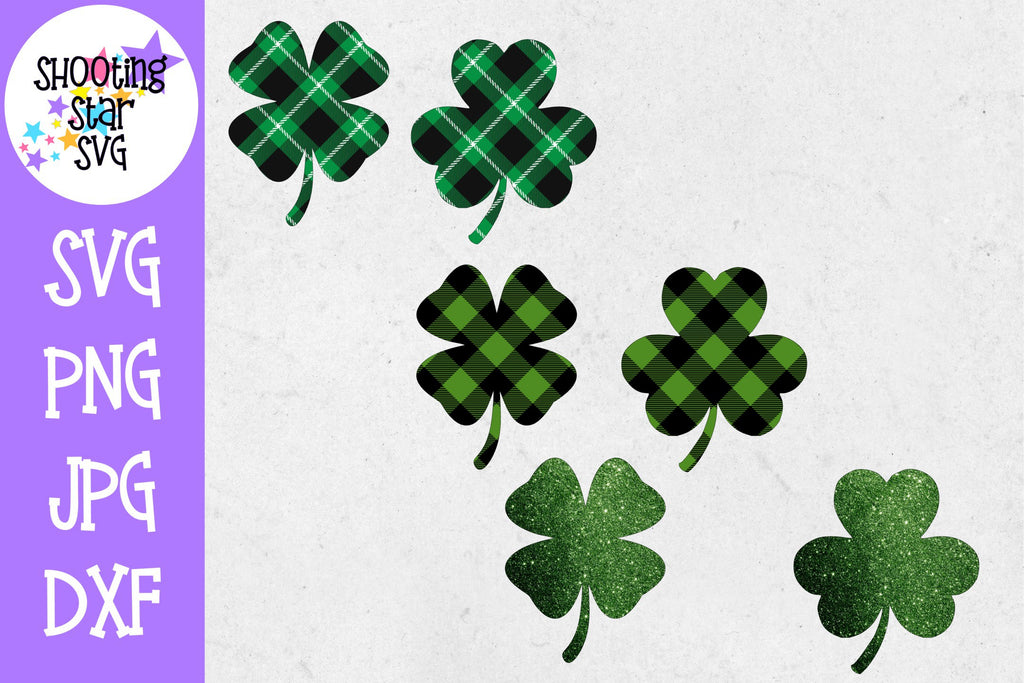 Shamrock Bundle - Plaid Shamrock - Glitter Shamrock