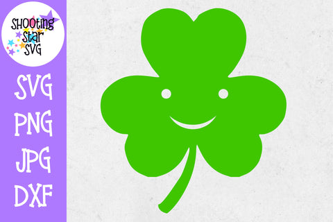 Smiling Shamrock - St. Patrick's Day SVG
