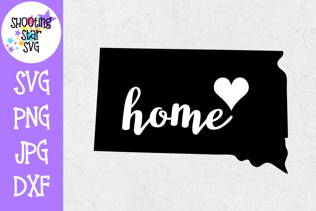 South Dakota State Home with Heart SVG - 50 States SVG - United States SVG