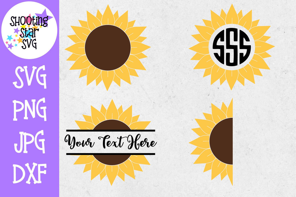 Sunflower SVG Bundle - Sunflower Monogram SVG