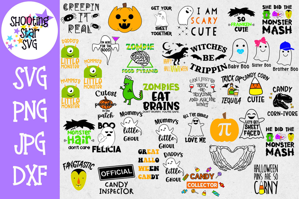 Mega Halloween SVG Bundle 38 Designs - Halloween SVG