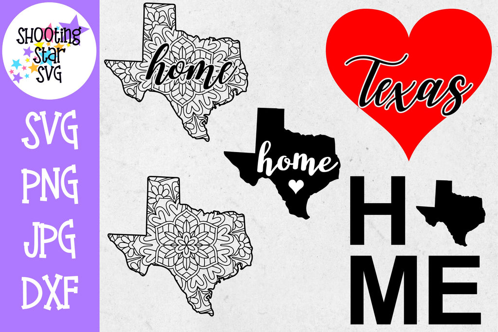Texas US State SVG Decal Bundle - 50 States SVG
