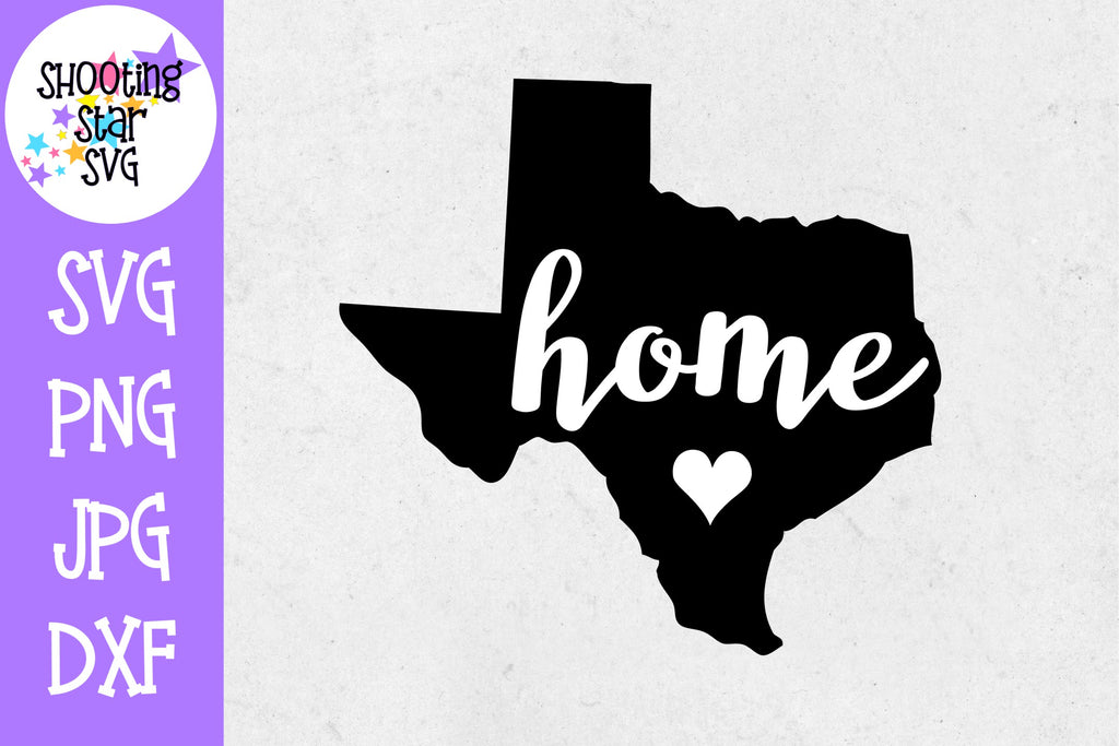 Texas State Home with Heart SVG - 50 States SVG - United States SVG