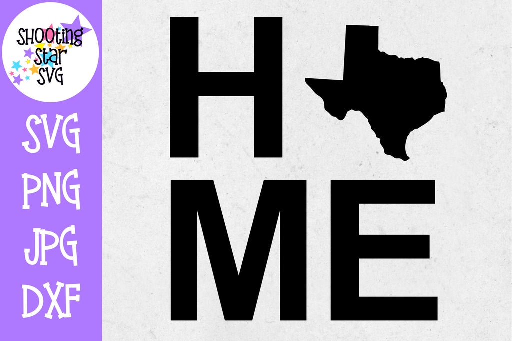 Texas State Home with State Outline SVG - 50 States SVG - United States SVG