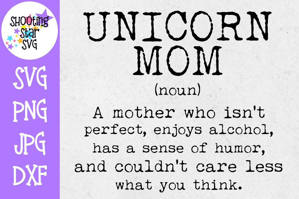 Unicorn Mom Definition - Funny SVG - Mom SVG