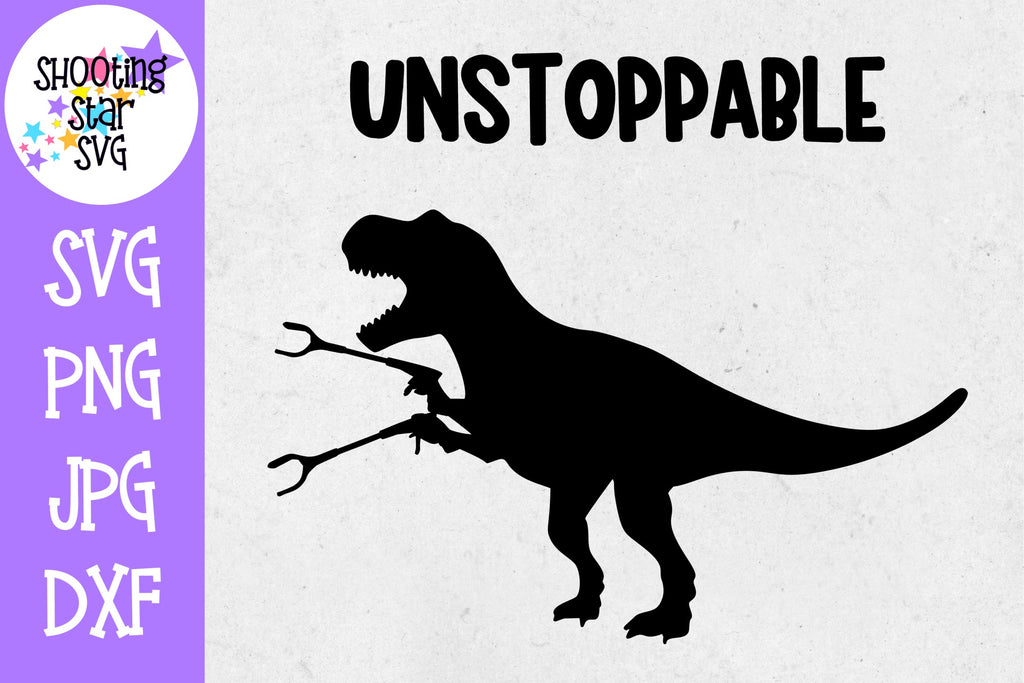 Unstoppable Trex Wins - Dinosaur SVG