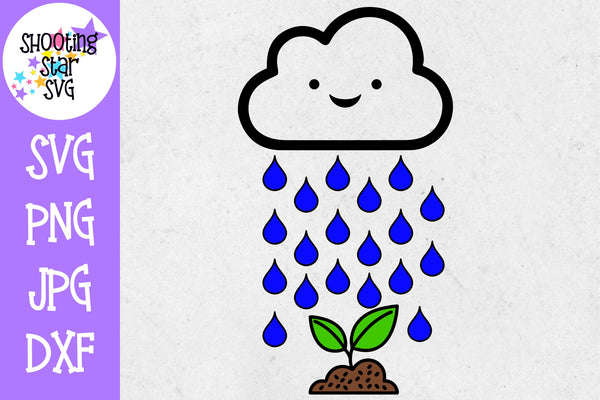 Rain Cloud Watering Seed - Pregnancy SVG - Maternity SVG