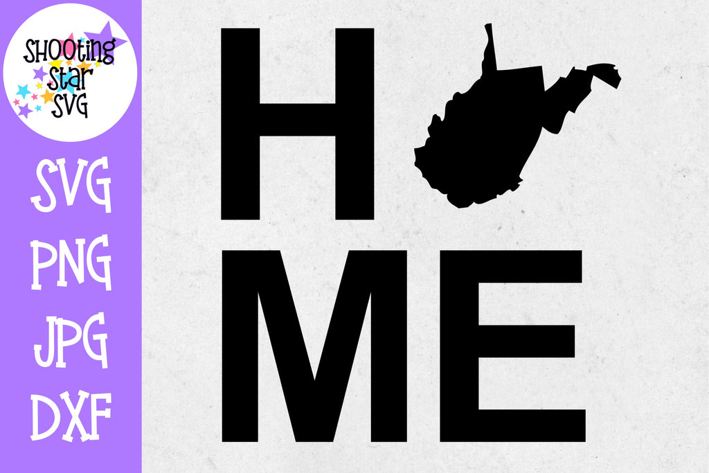 West Virginia State Home with State Outline SVG - 50 States SVG - United States SVG