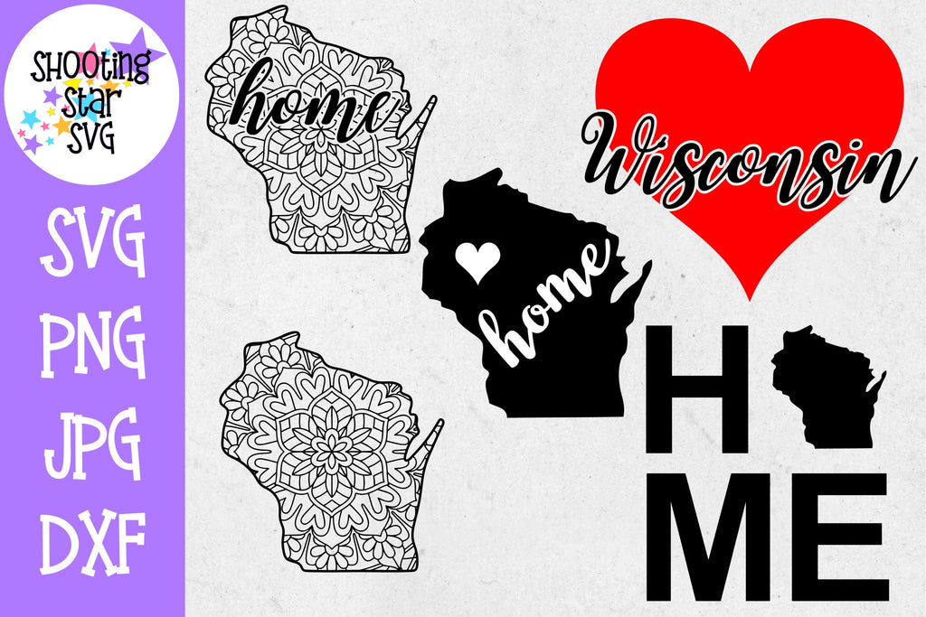 Wisconsin US State SVG Decal Bundle - 50 States SVG