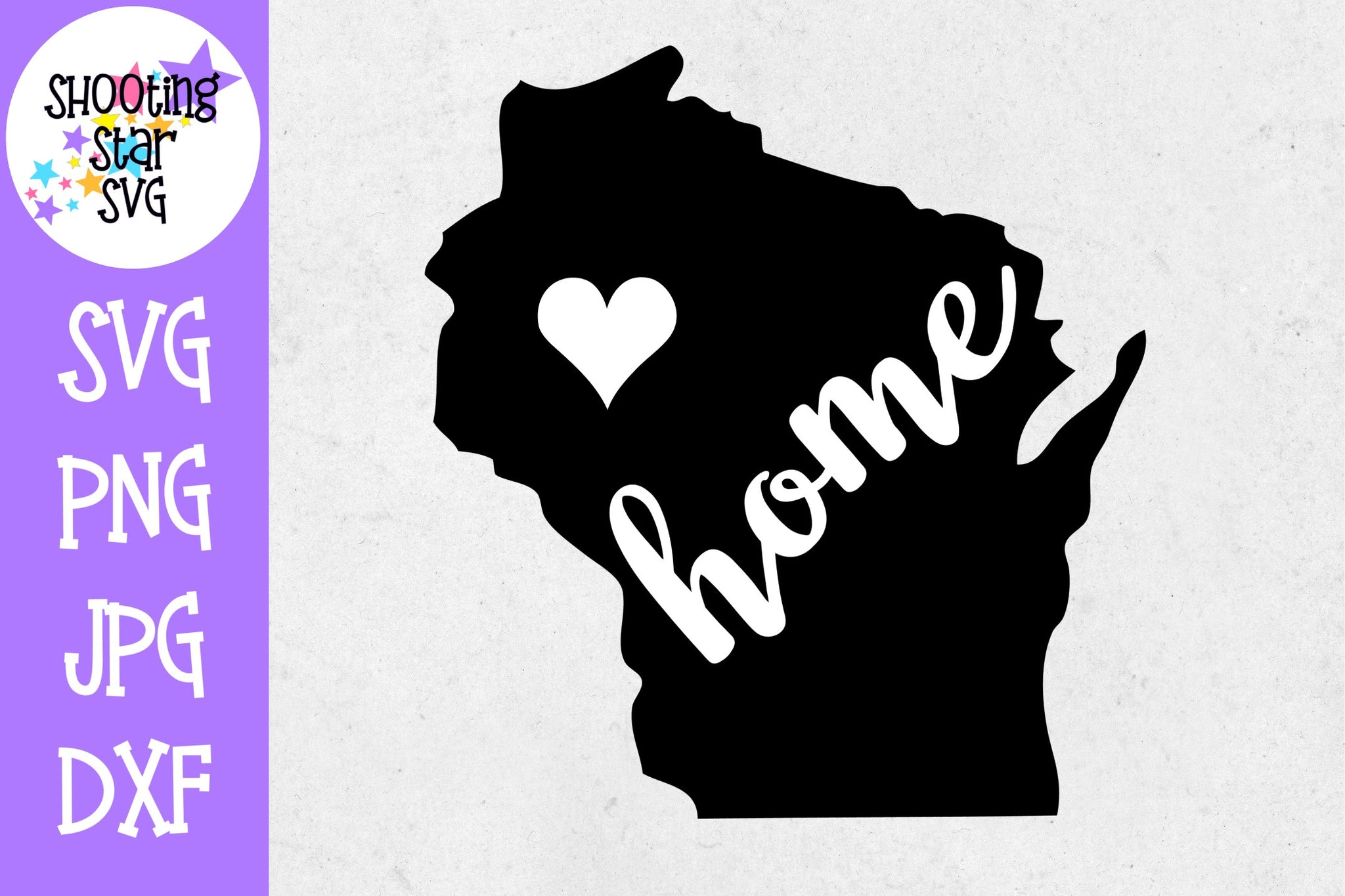 Wisconsin State Home with Heart SVG - 50 States SVG - United States SVG