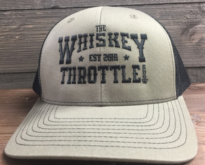 Loden/Black Whiskey Throttle Show Richardson - Adjustable Snapback Trucker Cap