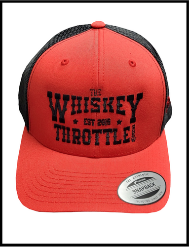 The Red/Black Whiskey Throttle Show Classic Snapback