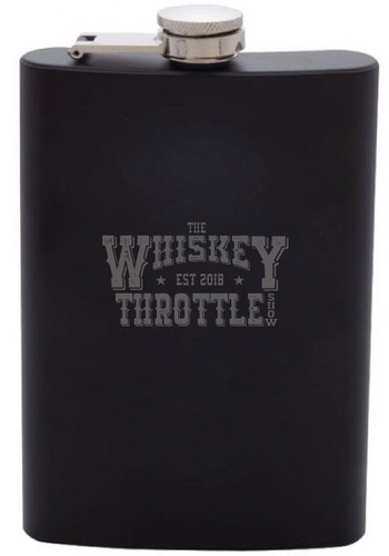The Whiskey Throttle 8oz STAINLESS STEEL FLASK