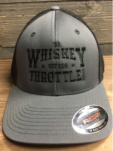 Charcoal/Black Whiskey Throttle Show Flexfit - Trucker Cap
