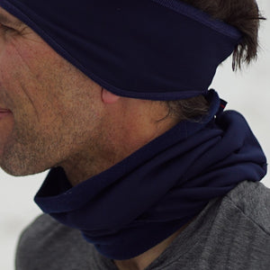 Double sided microfleece gaiter offers warmth while moving moisture to keep you from getting cold. Perfect for running or cycling on those really cold days.