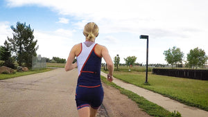 The perfect sleeveless Women's triathlon top for Ironman, 70.3, Olympic or sprint distance races.