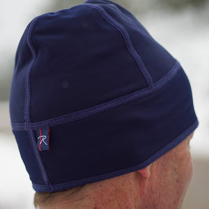 Double sided microfleece beanie offers warmth while moving moisture to keep you from getting cold.  Perfect for running or under a cycling helmet.