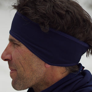 Double sided microfleece headband offers warmth while moving moisture to keep you from getting cold. Perfect for running or under a cycling helmet.