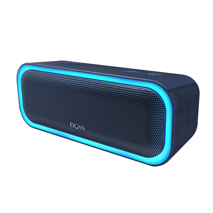 Black DOSS SoundBox Pro - DOSS Bluetooth Speaker