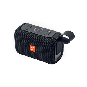 Black DOSS EGO Waterproof Bluetooth Speaker