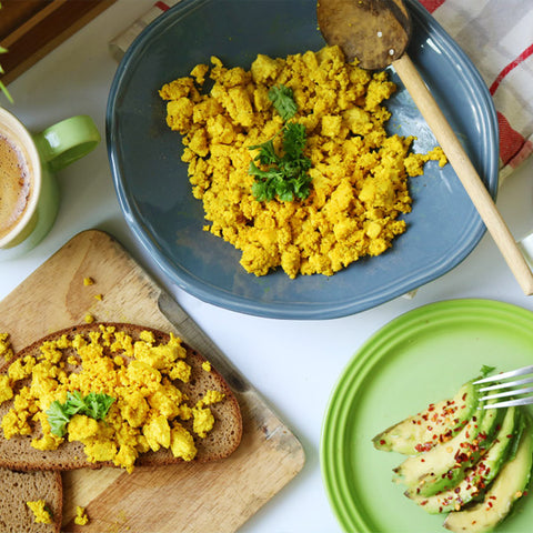 Scrambled tofu is a good egg replacement