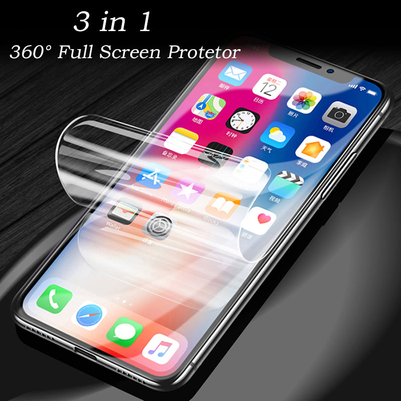 iPhone Samsung Huawei with Free Gift 360° Full Screen Protector Film With  Full set of Accessories Front and Back Film for iPhone X/XS/XS