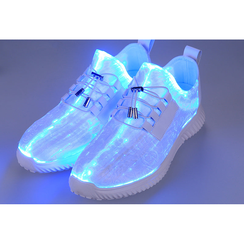 Fiber Optic LED Shoes, Light Up Shoes for Women Flashing Luminous Trainers for Festivals