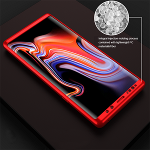 Samsung Galaxy Note 9 Case Luxury Hard PC 360 Full Cover With Surface soft film Protective Back Cover for samsung note8 9 S7 S8 S9