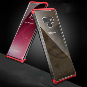 Luphie Samsung Note 9 Metal Bumper Case With Tempered Glass