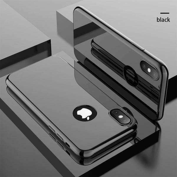 360 Full Protection Plating Mirror Case For iPhone X