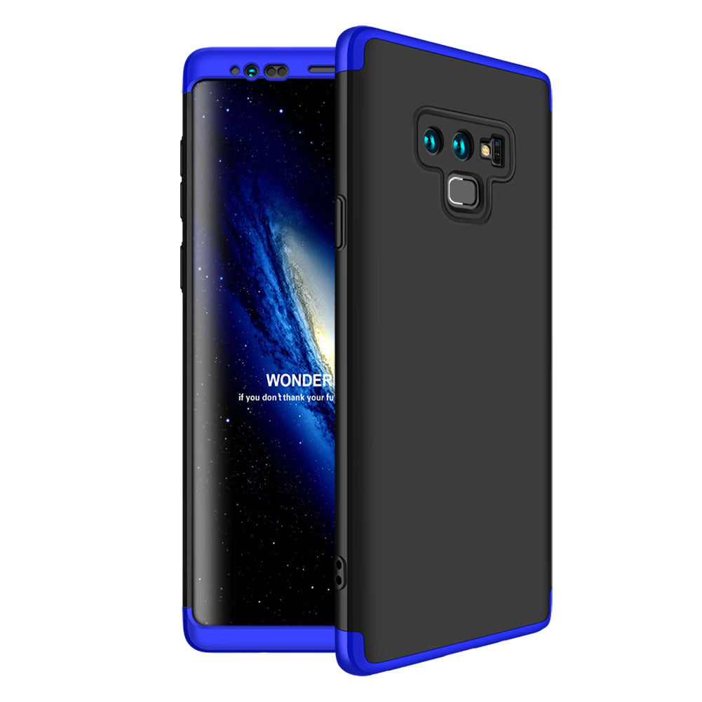 3 in 1 Double Dip 360° Degree Full Protection Hard PC Matte Coque Cover With Tempered Glass Film for Samsung Note 9