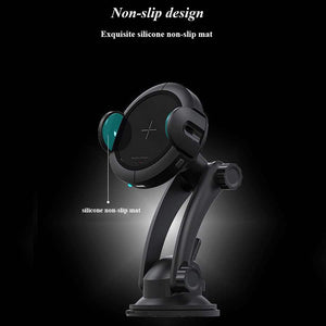 Infrared Sensor Car Charger 15W Fast Wireless Charging
