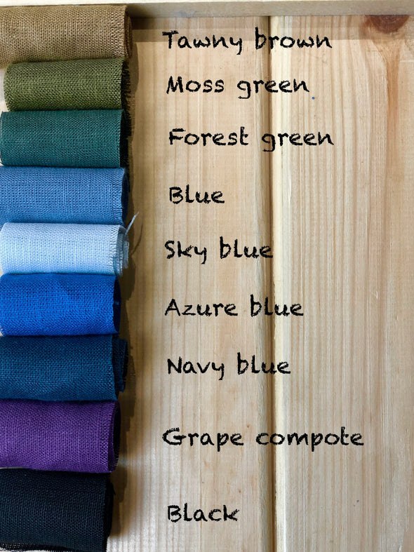 Linen Women Pants Wide Waistband - Elastic Waist and Wide Leg - Available in Green, Blue, Black, Rose Colors