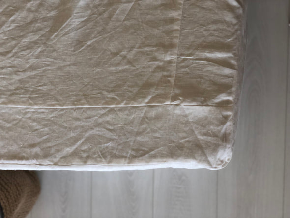 Oversized Linen Bed Skirt with Cotton Lining, Relaxed Look, Not Pleated, 100% Linen