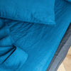 Dark Blue Linen Flat Sheet - Flax Linen Top Sheet in Different Colors