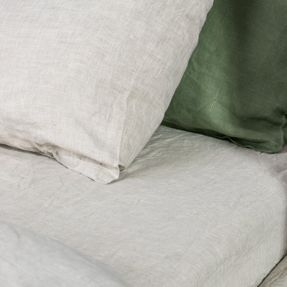 Natural Linen Classic Pillowcase with Envelope Closure - Standard, Queen, King, Euro Sizes