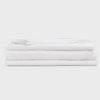White Linen Bed Sheets - 4 Piece Linen Sheet Set - Twin, Full, Queen, King and California King