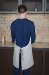 Linen Apron Adjustable with Pockets - Mens Linen Bib Apron Сhefs - Gift Idea for Cooking Lovers