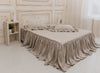 Linen Bed Spread - Natural Linen Ruffled Coverlet - Shabby Chic Bed Cover