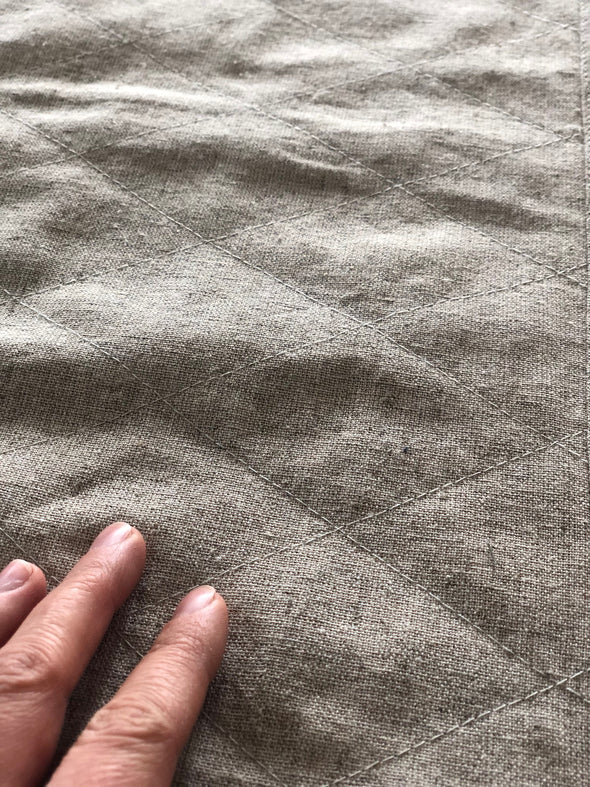 Linen Bath Rug 20X34 inches - Bath Mat 100% Linen Canvas - Natural linen color