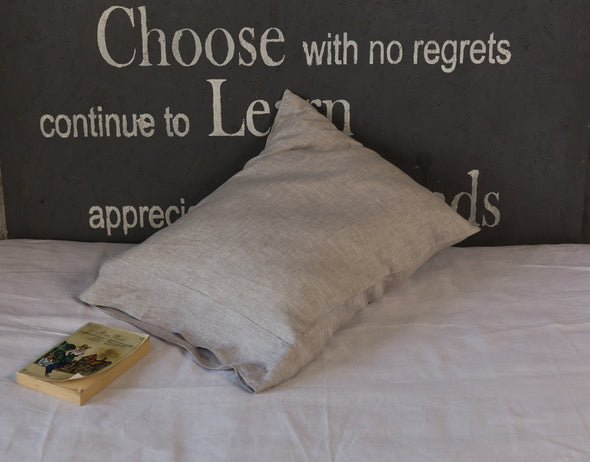 Simple & Opulence 100% Natural Linen - Bag Style, Hotel Style Pillow Sham - Standard, Queen, King, Euro Sizes