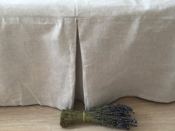 Bed Basic Linen Accessories - Tailored Linen Simple Bed Skirt and 2 Envelop Pillowcases - Custom Drop of the Skirt