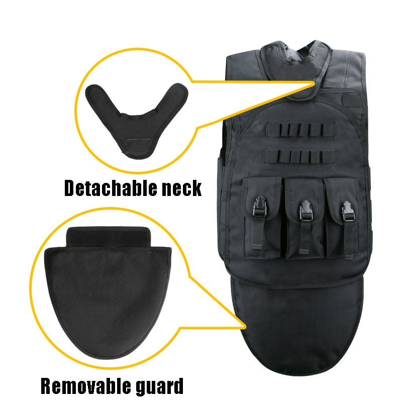 Black Tactical Vests Mens Military Hunting Vest Field Battle Airsoft Molle Waistcoat Combat Assault Plate Carrier Hunting Vest