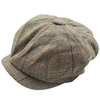 Classic Men Octagonal Hats Western Style Gatsby Cap Ivy Hat Golf Driving Autumn Cabbie Male Boina Berets Male Casual Caps