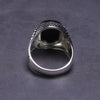 Turkey Jewelry Black Ring Men Light-weight 6g Real 925 Sterling Silver Mens Rings Natural Onyx Stone Vintage Cool Fashion