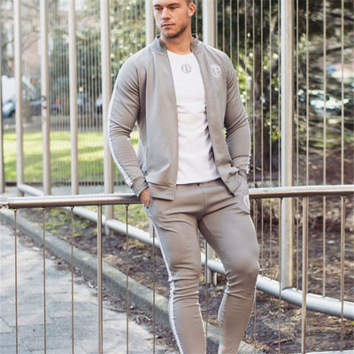 Sport Suit Men Bodybuilding Jacket Pants Sports Suits Basketball Tights Clothes Gym Fitness Running Set Men Tracksuits 3XL