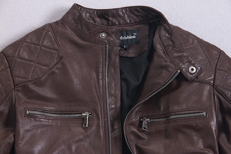 Free shipping6-11 days.Brand classic style leather coat,popular men's genuine leather Jackets,slim motor biker jacket,cool quality sales