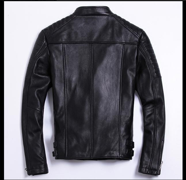 Free shipping 6-11 days.moto biker style,Plus size Brand soft sheepskin leather Jackets,mens genuine Leather jacket.motorbiker slim coat,