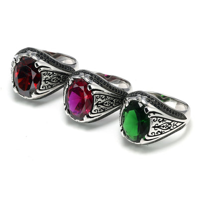 Guaranteed 925 Silver Rings Luxury Turkish Jewellery For Men And Women With Zircon Stone Retro Vintage Rings In Fijne Sieraden