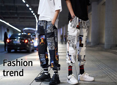 2019 New High Street Fashionable Printed Men's Jogger Trouser Hip Hop Homens Casual Bermuda Harem Pants Sweatpants Streetwear